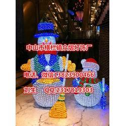 装饰户外防水滴胶立体雪人LDE造型灯圣诞节节日亮化公园图片