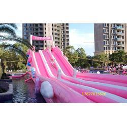 田鸣超级萌的水上设备出租出售粉色滑滑梯定制出租出售