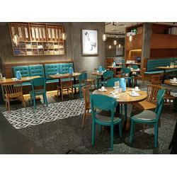 粤时尚家具自助餐厅卡座沙发维修-西餐厅餐桌椅翻新升级图片