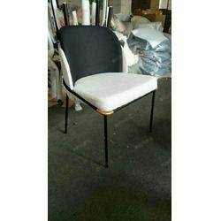 设计师定制款椅子西餐厅带扶手软包椅-粤时尚家具厂家图片