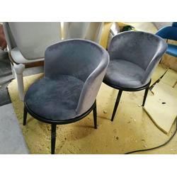 设计师定制款布艺 皮质西餐厅餐椅配套卡位沙发全套定制 简约现代风格图片