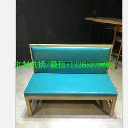 中餐厅沙发卡座定做报价,火锅店皮质卡座沙发定制图片