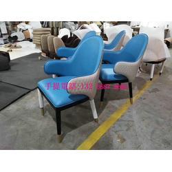北欧风格实木皮椅子定制款式,西餐厅咖啡厅餐椅报价,带扶手椅子样品图片