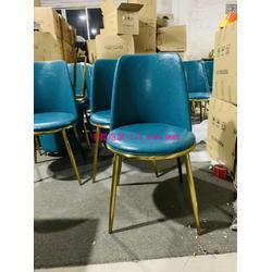 现代轻奢风餐厅椅子款式,2019新款电镀钛金不锈钢脚餐椅图片