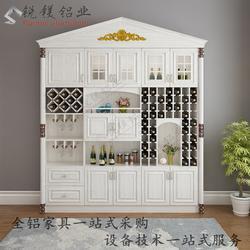 仿實木全鋁衣柜家居鋁型材 歐式鋁合金衣柜材料批圖片