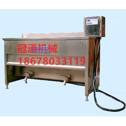 商用豆腐干燃气油炸锅半自动豆泡自动出料油炸机图片
