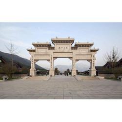 惠安石雕山门牌坊供应-泉州山门牌坊先进工艺图片
