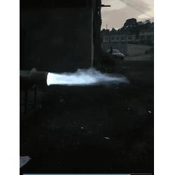 秸秆气化成套设备产生新热值蓝火能源过程图片