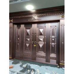 铜门厂家 庭院铜门定制安装 售楼部铜门 转转门控图片