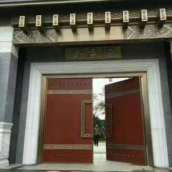 睿樽品牌铜门厂家 酒店铜门 转转门控图片