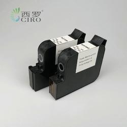 在线手持喷码机溶剂墨水快干墨盒覆膜材料黑色喷头高度25.4mm一英寸图片