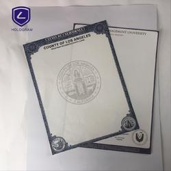 高质量防伪水印证书图片