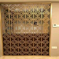 铝窗花定制 木纹复古铝窗花 现代艺术铝窗花图片