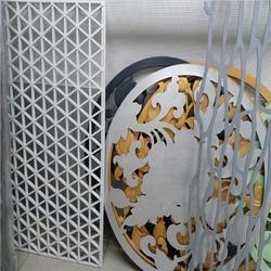 木纹铝窗花 复古铝窗花 铝合金隔断屏风图片