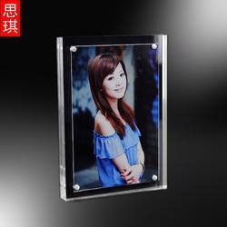 6寸 7寸 亚克力相框定制 透明水晶相框装饰 有机玻璃相框图片