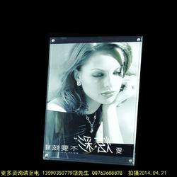 厂家现货亚克力定制相框 有机玻璃展示架 广告钉透明相框横竖两用图片