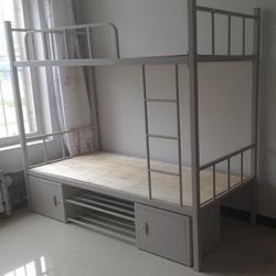 供應鋼制學校宿舍床 上床下桌組合床圖片