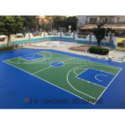 篮球场施工建设及塑胶球场工程建设厂家图片