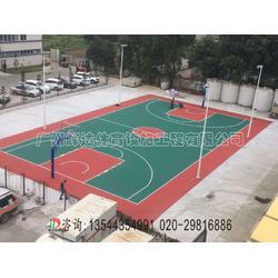 专业硅PU塑胶篮球场施工建设图片