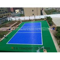 拼装地板排球场施工建设-塑胶排球场专业施工建设工程厂家图片