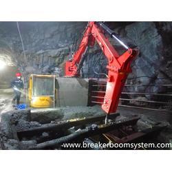 矿山入料口多功能固定式液压机械手图片