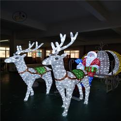 LED滴胶造型灯圣诞鹿拉车造型灯3D雪人 麋鹿动物灯公园节日装饰灯图片