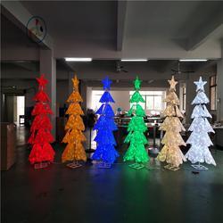 LED造型灯厂家 定制圣诞节装饰造型灯 滴胶圣诞树 3D麋鹿造型灯图片