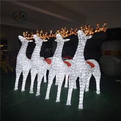 定制公园亮化 3D滴胶麋鹿 节日装饰防水彩灯 led户外造型灯图片