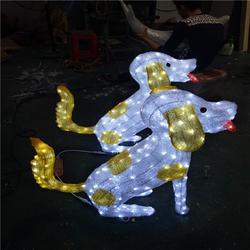 古镇梦幻灯光节 LED仿真动物灯 发光滴胶小狗造型灯 彩虹管图案灯图片