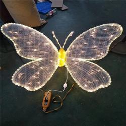 厂家供应0.8米滴胶蝴蝶 3D蝴蝶造型灯 园林装饰灯 仿真动物造型灯图片