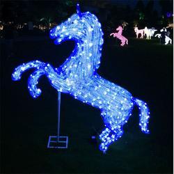 滴胶马造型灯 十二生肖图案灯 公园动物装饰灯 3D梦幻灯光节造型图片