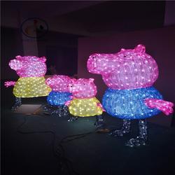 国际灯光秀 景区灯光亮化工程 3D动物造型灯图片