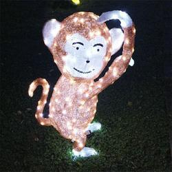 LED造型灯厂家 滴胶猴子造型灯 节日装饰灯图片