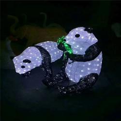直銷節日商場亮化草坪裝飾彩燈夢幻燈光節 戶外LED滴膠熊貓造型燈批發