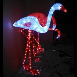 發光動物燈 立體光雕裝飾燈 滴膠火烈鳥造型燈