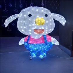 厂家直销LED滴胶动物造型灯 滴胶小猪佩奇造型灯公园亮化装饰灯图片
