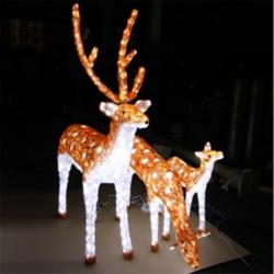 LED造型灯 滴胶梅花鹿一家亲 公园景观灯图片