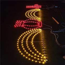 led街道图案灯杆造型灯 双面发光灯笼过街灯 发光跨街灯图片