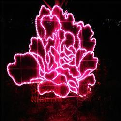 LED亮化荷花图案灯 户外景观美陈装饰道具灯光节造型灯图片