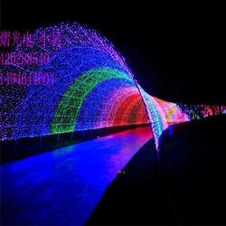 国际灯光节装饰灯 大风车造型灯 灯光隧道灯图片