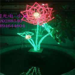 户外商场楼盘酒店商业街花海灯光主题优质LED立体花朵 荷花造型灯图片