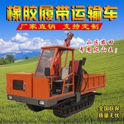 廠家直銷四不像履帶運輸隨車吊農用拖拉機履帶平板吊圖片