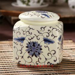 订做陶瓷茶叶罐可加印LOGO图片