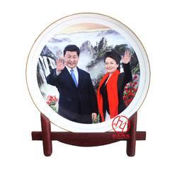 中秋礼品陶瓷纪念盘定制图片