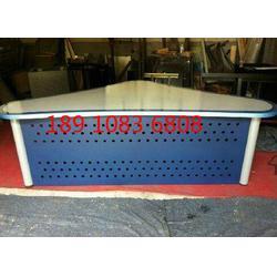 播音桌播音台校园演播桌可定制异型播音台图片
