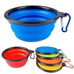 盆狗碗猫食碗宠物食盆单碗饭盘喝水外出折叠硅胶便携碗狗狗用品图片