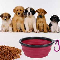 宠物狗狗折叠碗外出喝水用品 户外遛狗硅胶犬食盆便携式狗碗