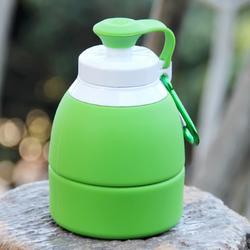 户外硅胶折叠水杯大容量运动水壶 旅游便携饮水袋旅行用品软水瓶