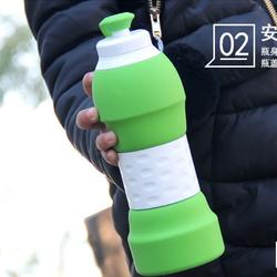 户外便携旅游硅胶水杯折叠大容量伸缩壶 运动骑行软水瓶可装沸水图片