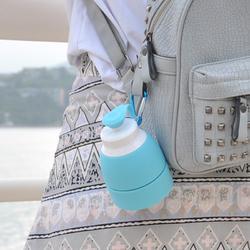 户外运动热水壶便捷可折叠水袋 越野跑步登山骑行硅胶软水瓶水杯图片